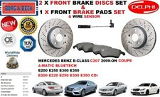 FOR MERCEDES E220 E250 E300 E350 COUPE FRONT BRAKE DISCS SET + PADS KIT + SENSOR