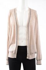 Brunello Cucinelli beige 40 52 button front v-neck cardigan sweater NEW $1375