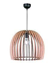 Lampadario in legno naturale vintage D.50 a 1 luce coll. trio R30255030 Wood