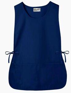 2 FAME Cobbler Apron Navy blue unisex Waist Ties  Deep front pockets 20inx38in