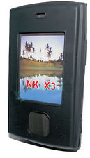 Silicona TPU, móvil cover case funda negra para Nokia x3 + protector de pantalla