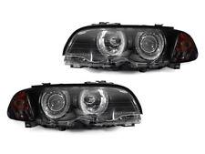 DEPO 02-03 BMW E46 2DR Coupe / Cabrio Projector Black Headlight + Smoke Corner