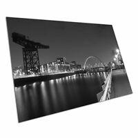 Black & White Poster print Glasgow squinty bridge river Clyde Scotland A1 Poster