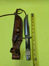 1998~A.G. RUSSELL~UNUSED STAG BOWIE KNIFE~HIGH END TAK FUKUTA DESIGNED CUSTOM~
