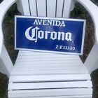 Corona Avenida Z.P. 11320 Tacker Metal Tin Bar Cerveza Avenue Street Beer Sign