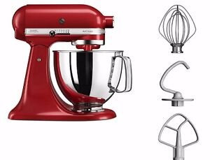 KitchenAid 125 Artisan 4.8L Bowl Stand Mixer - Iconic RED