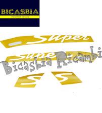 11573 ADHESIVOS ETIQUETAS AMARILLO ESCRITO POR SUPER TRANSPARENTE VESPA GTS 125