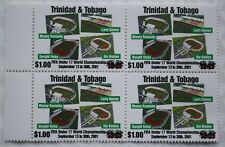 Trinidad & Tobago $1.00 Overprint 2018 FIFA Football Issue Block of Four Mint