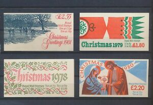 XC88455 Great Britain greetings christmas holidays booklets MNH