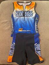 Triathlon Club of San Diego Cycling Shorts and Jersey, Womens Medium/Large