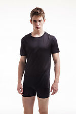 Jasmine Silk Men's Pure Silk Thermal Top T-Shirt Vest