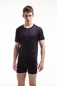 Jasmine Silk Men's Pure Silk Thermal Top T-Shirt Vest