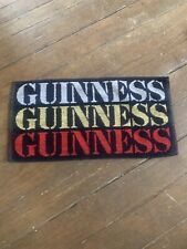 Vintage Guinness Bar Towel Striped Terry Clothe Beer Advertising Merchandise