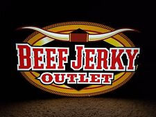 "Beef Jerky Outlet bar, game room or man cave hanging sign light 24""x9""x14"""