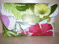 Más de tamaño Floral Multicolor asimétrico Clutch Bag, impresionante y raro!!!