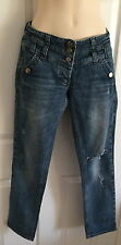 WOMEN River Island faded High Waisted Jeans Size 12s