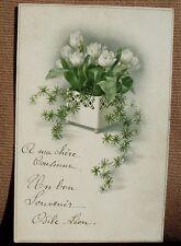 Ancienne carte écrite de 1921