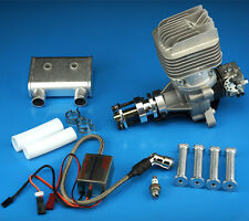 DLE-55RA Rear Exhaust gasoline engine w/ Ignition&Muffler FOR RC AIRPLANE -IN US