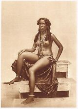 1920's Old Vintage Ethnic Exotic Female Nude Model Photo Gravure Print