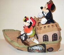 DISNEY PIRATES OF THE CARIBBEAN CLOTH PLUSH SHIP MICKEY MOUSE GOOFY PLUTO BEANS