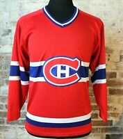 Vintage CCM Montreal Canadiens Hockey Jersey Stitched Men's M 3/4 Sleeve NHL