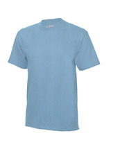 HANES 'BEEFY' TWIN-PACK T-SHIRTS/SKY BLUE - 2XL