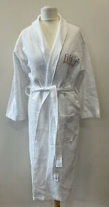 Womens Filter By Molly-Mae White Waffle Dressing Gown Robe Size Small