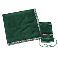 Sparkle Tarot Cards Drawstring Bag Velvet Table Cloth Divination Green