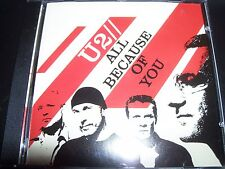 U2 All Because Of You (Canada) 2 Track CD Single - New