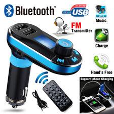 Bluetooth Car FM Transmitter Wireless Radio Adapter MP3 Player Remote Control AU