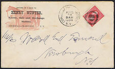USA 1894 2c Red Hunter Cornwall Horse Illustrated Advertising Envelope.