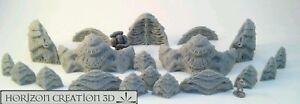 HC3D -Bio Terrain Defense Line- Alien Wargames Miniatures Scenery 40k 28mm 15