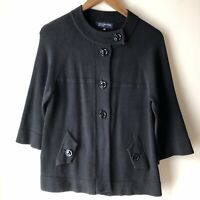 Jones New York Black Cardigan / Sweater Jacket, Women's Size Small
