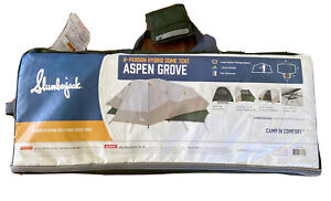 Aspen Grove 8-Person 2 Room Hybrid Dome Tent with Full Fly Outdoor Camp