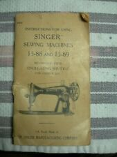 1940 instruction manual for Singer Sewing Machine models 15-88 and 15-89