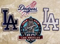 LA Los Angeles Dodgers set of FOUR (4) Iron On Embroidered Patches ~FREE SHIP!~