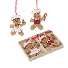 Gingerbread People Set of 6 Christmas Tree Decorations