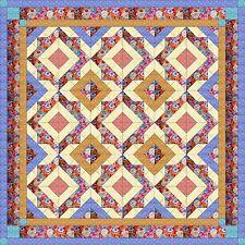 Quilt Kit/Diamond Tiles/Pre-cut Fabrics Ready To Sew!!