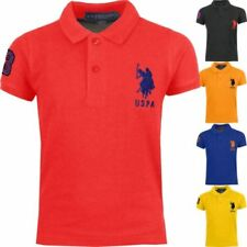US Polo Assn. Patternless Crew Neck Casual Shirts & Tops for Men