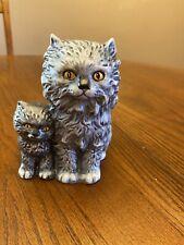 Vintage 1975 Goebel Gray Cat and Kitten Figurine 31 008-12