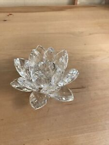 Beautiful Glass Flower Shaped Candle Stick Holder , Lovely Condition