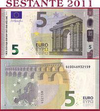"(com) EUROPEAN UNION - ITALY 5 EURO 2013 Sign DRAGHI  ""SC""  S002J4 - P 20s - UNC"