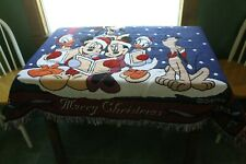 Mickey Mouse & Friends Woven Merry Christmas Throw Blanket