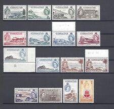 Gibilterra 1953-59 SG 145/58 + OMBRA Gomma integra, non linguellato CAT £ 190