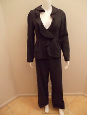 VERONIKA MAINE CHARCOAL MARBLE CORPORATE PANTS SUIT-SIZE 10-NEAR NEW  (#1672)