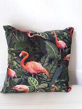 Kissenhülle Kissenbezug Dekokissen mit digital bedrucktem Motiv 45x45 Flamingo
