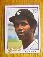1978 TOPPS CARD # 114 PAUL BLAIR