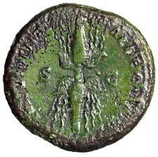"""Antoninus Pius AE Sestertius """"PROVIDENTIAE DEORVM Winged Thunderbolt"""" Green"""