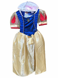 Snow White Deluxe Disney Princess Fairy Tale Story Book Week Girls Costume 5-6