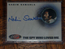 JAMES BOND AUTO/AUTOGRAPH CARD NADIM SAWAHIA A60 007